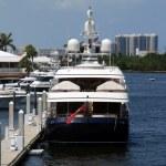 Marina with boats — Stock Photo