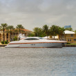 Luxury yacht in FLorida - Stock Photo