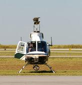 Helicóptero da polícia — Foto Stock