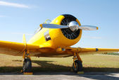 Vintage yellow airplane — Stock Photo