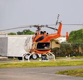 Medical evacuation helicopter — Stock Photo