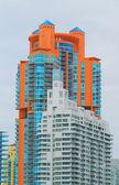 Moderne hi stijging flatgebouw — Stockfoto