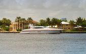 Luxury yacht in FLorida — Stock Photo