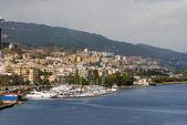 Coastline and marina of Messina Sicily — Stock Photo