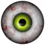 Illustration of human eyeball with green iris — Stock Photo