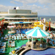 Top deck of passenger cruise ship - Stock Photo