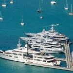 Luxury yachts — Stock Photo