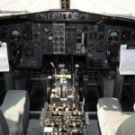 Jet airplane cockpit — Stock Photo