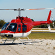 Royalty-Free Stock Photo: Red helicopter