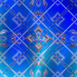 Colored patterns on blue background — стоковое фото #11635420