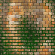 Royalty-Free Stock Photo: Brick wall with moss