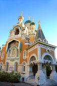 Russian orthodox church in Nice France — Stock Photo