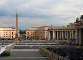 Saint Peter's Square In The Vatican — Stock fotografie