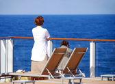 Couple enjoying cruise — Stock Photo