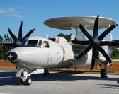 Early warning and radar jamming turboprop — Stock Photo