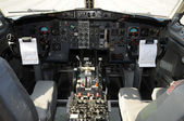 Jet airplane cockpit — Stock Photo