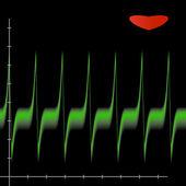 Cardiogram lezing — Stockfoto