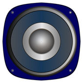 Blaue lautsprecher — Stockfoto