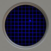 雷达屏幕和波追踪 — 图库照片