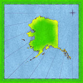 Map of Alaska — Stock Photo