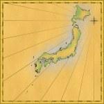 Oldmap of Japan — Stock Photo