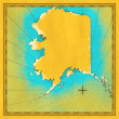 Antique map Alaska — Stock Photo #11644613