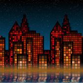 Luces de la ciudad — Foto de Stock