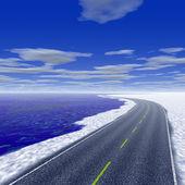 Coastal highway — Stock Photo