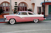 "1955 Crown Victoria painted as ""Pink Cadillac"" (Americana) — Stock Photo"