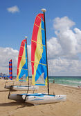 Beachfront equipment rental for watersports — Stock Photo