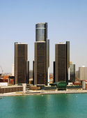 Podnikové věže v detroitu — Stock fotografie