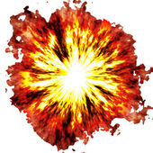 Fiery explosion — Stock Photo