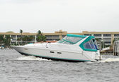 Motorboat in South Florida — Stock Photo