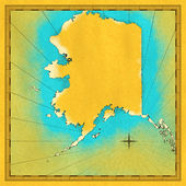 Antique map Alaska — Stock Photo