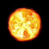 Giant fireball — Stock Photo