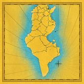 Map of Tunisia — Stock Photo