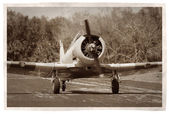 Vintage propeller airplane — Stock Photo