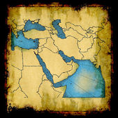 Middle East old map — Stock Photo