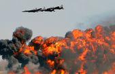 Letecké bombardování — Stock fotografie