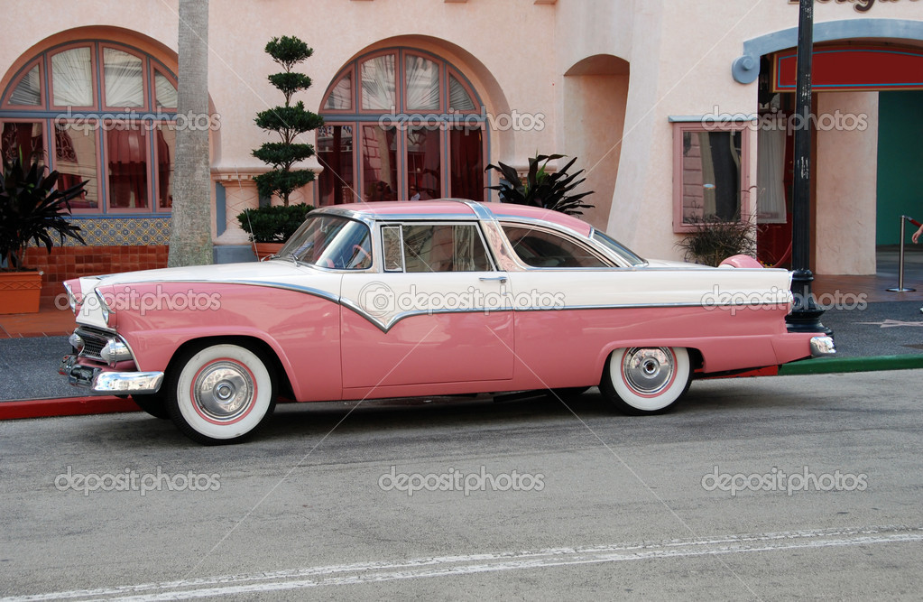 1955 Crown Victoria painted as &quot;Pink Cadillac&quot; (Americana)  Stock Photo #11644121