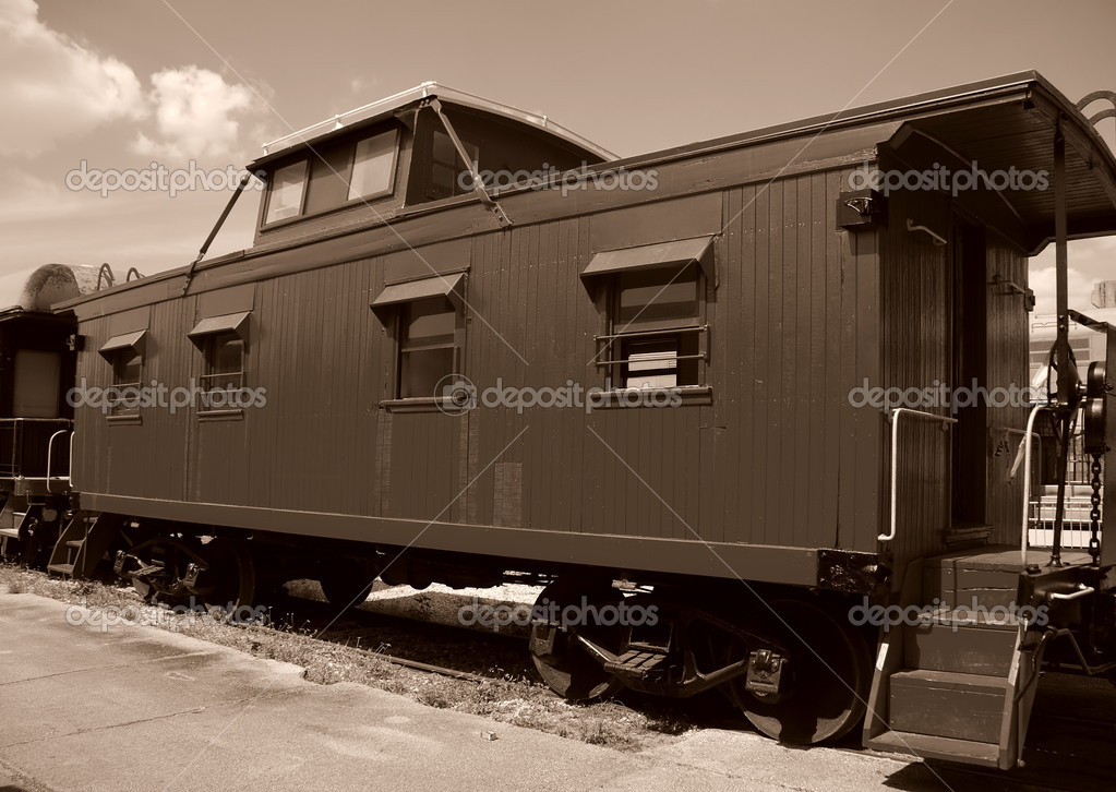 Old fashioned caboose car — Stock Photo #11644123