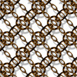 Copper chain link — Stock Photo