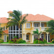 Wealthy waterfront residential community in Florida - Stok fotoğraf