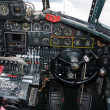 Stock Photo: Old bomber cockpit