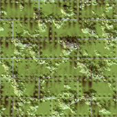 Weathered green metallic surface — Stock Photo