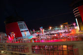 Cruise Ship Party Deck At Night — Stock Photo