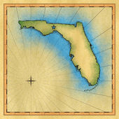 State of Florida map — Stock Photo
