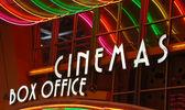 Cinema neon sign — Stock Photo