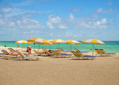 Plaj sandalyeleri — Stok fotoğraf