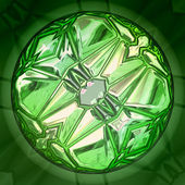 Green gem stone — Foto de Stock